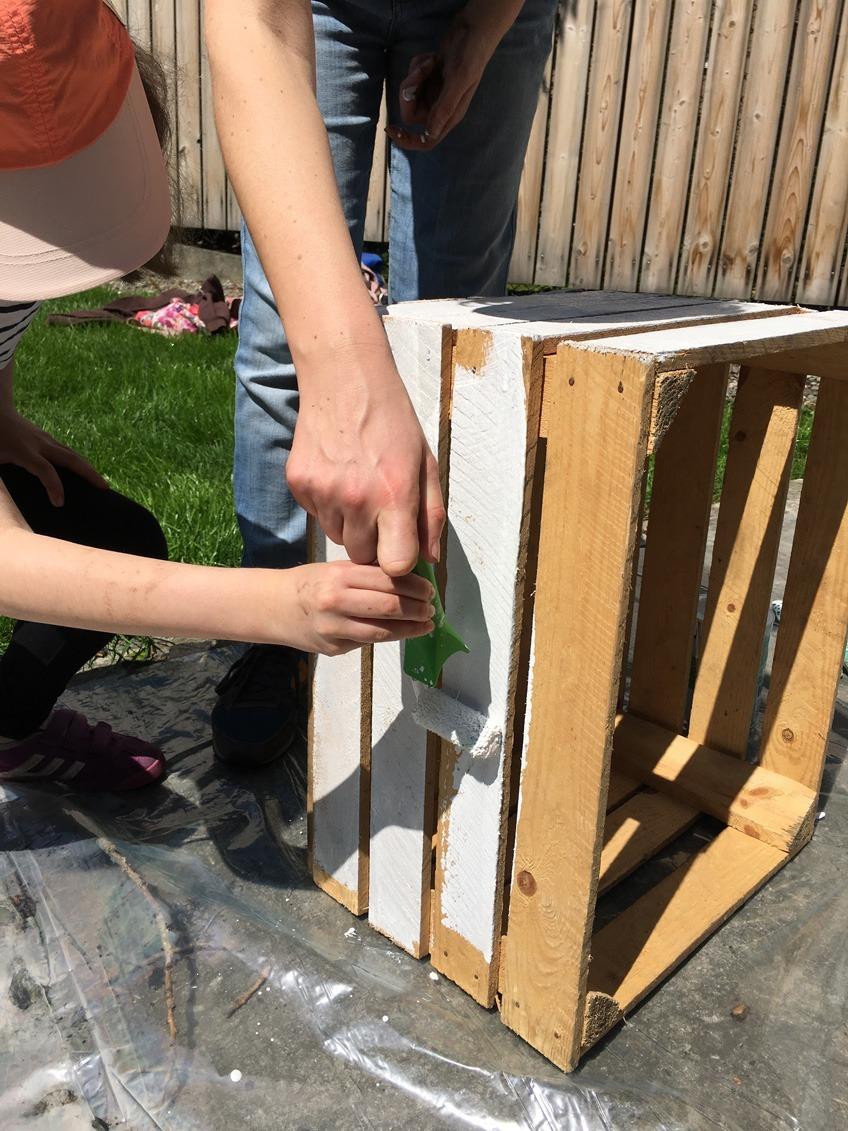 Skrzynie na warzywa, warsztaty roślinne i recyklingu