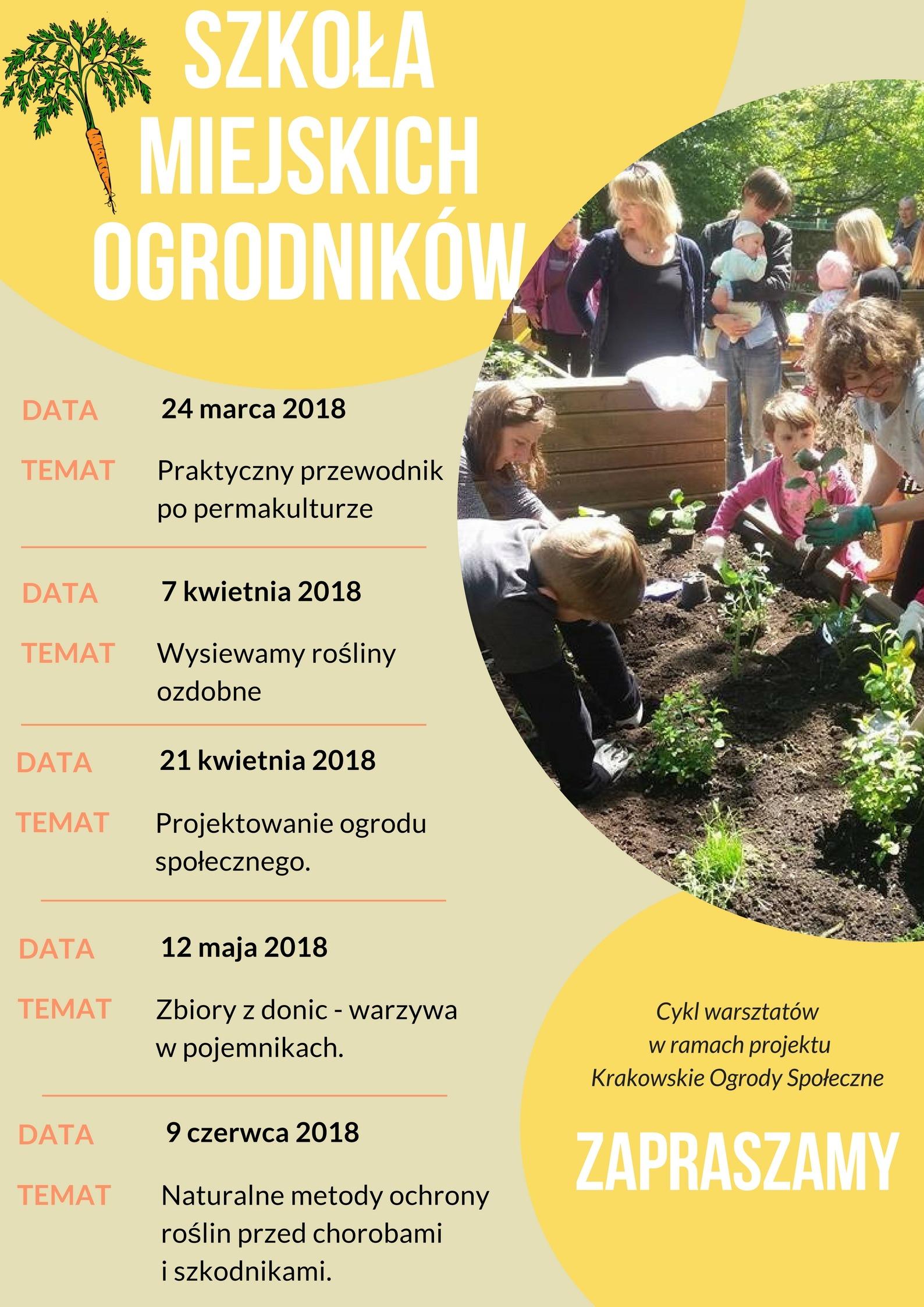 miejskie ogrody spoleczne w Krakowie