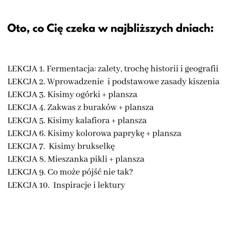 miejskie kiszenie kurs inspekty.pl